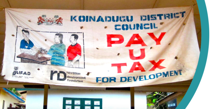 Sign in from the Koinadugu District Council in Sierra Leone reading