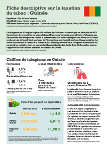 Guinea Tobacco Tax Factsheet